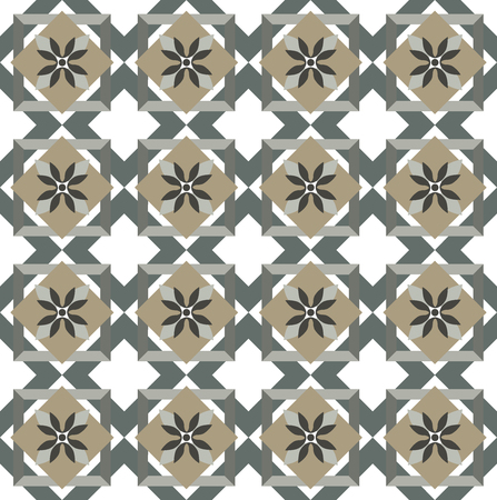 Green Olive Spanish style pattern, with olive lives, usually used in tiles in Spain, Portugal and other Mediterranean countries 向量圖像