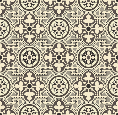 Tiles Floral Spanish style pattern, usually used in tiles in Spain, Portugal and other Mediterranean countries 向量圖像