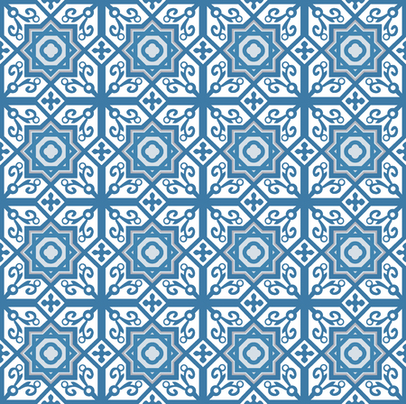 Blue arabic pattern usually used for tiles in arabic and mediterranean countries