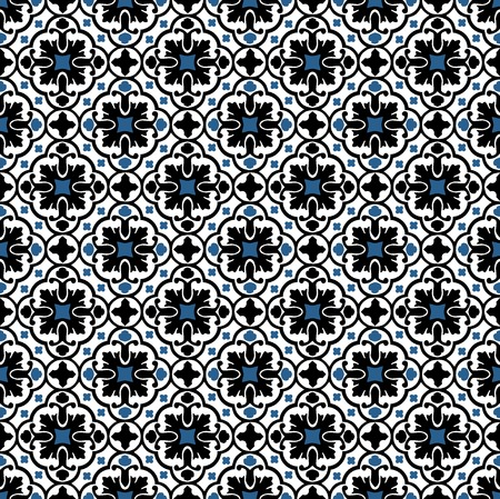 Floral pattern usually used for tiles in arabic and mediterranean countries