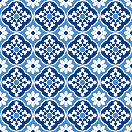 Portuguese style pattern, usually used in tiles in Spain, Portugal and other Mediterranean countries