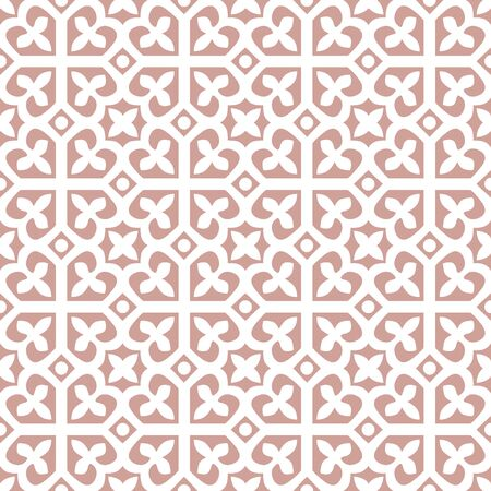 Pink and White seamless abstract floral decorative tile pattern 向量圖像