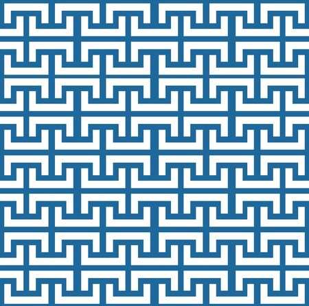 Seamless white and blue geometric background patterns 向量圖像