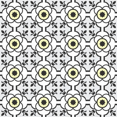 Abstract seamless arabesque vector patterns for tiles wrapping, wallpaper and paper, and fabric decoration