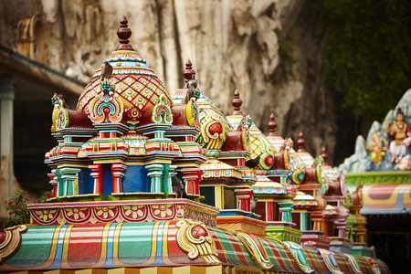 Roof structure of Batu Caves, Malaysia 스톡 콘텐츠