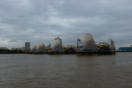 uk: Thames Great Barrier - London, UK Stock Photo