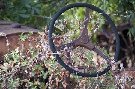 Tractor Steering wheel Imagens