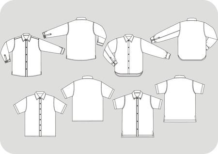 long sleeve shirt: long sleeve shirt line draft