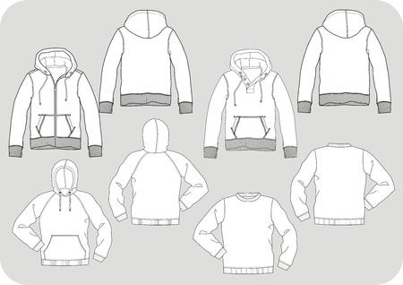 Anorak: Pullover line Entwurf