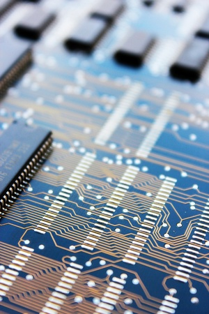 componentes: tarjeta de circuitos