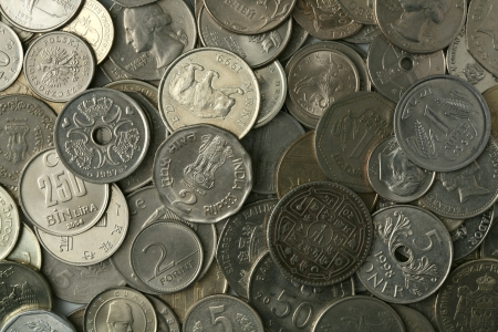 Silver coins texture Stock Photo - 15449516