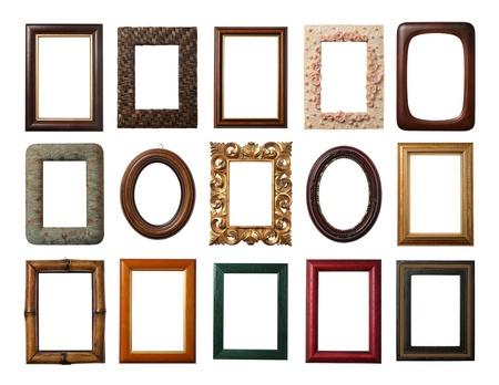 retratos: 15 cuadros diferentes aislados en blanco
