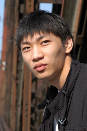Young Asian man portrait photo