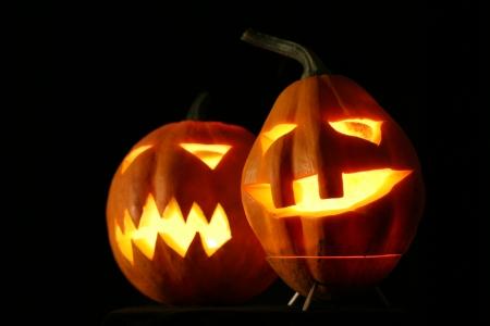citrouille halloween: Citrouilles d'Halloween Jack-o-lantern
