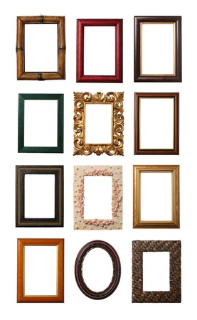 Wooden frame isolated on white
