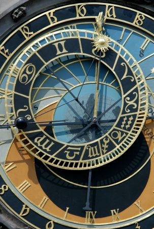 Famous astronomical clock in Prague, Czech Republic photo