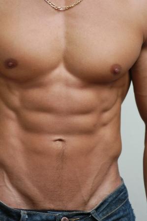 nue plage: Musculaire modèle masculin Banque d'images