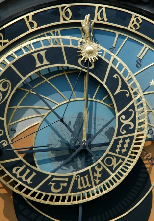 clockwork: Famous astronomical clock in Prague, Czech Republic