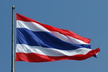 National flag of Thailand photo