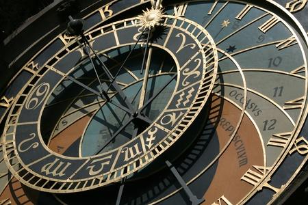 cronologia: Famous astronomical clock in Prague, Czech Republic