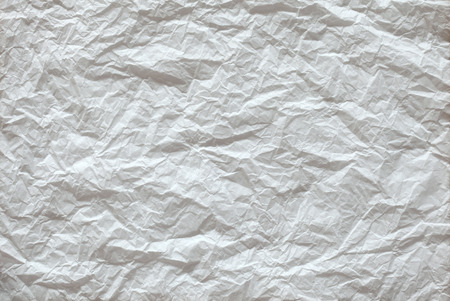 White crumpled paper texture background photo
