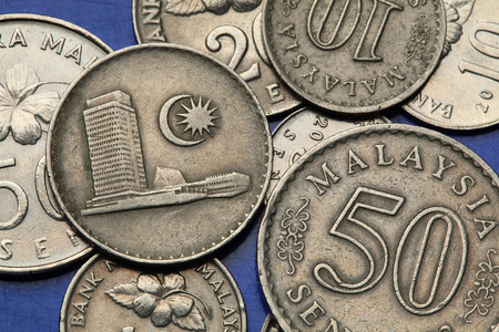 sen: Coins of Malaysia. Malaysian Houses of Parliament at the Lake Gardens in Kuala Lumpur depicted the Malaysian sen coins.