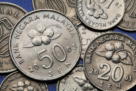 sen: Coins of Malaysia. Malaysian sen coins.