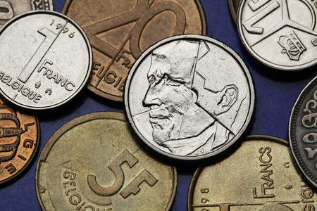 ベルギーの硬貨。キング ボード...