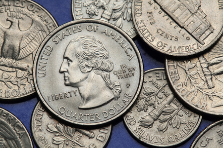 us coin: Coins of USA. George Washington depicted on the US quarter coin.