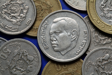 vi: Coins of Morocco. King Mohammed VI of Morocco depicted in the Moroccan dirham coins.