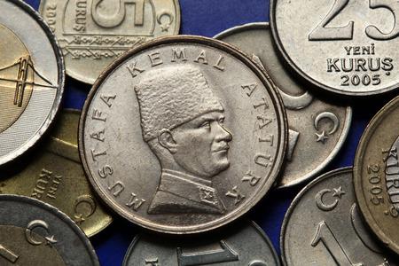 33974732 coins of turkey mustafa kemal ataturk depicted in the turkish lira coins