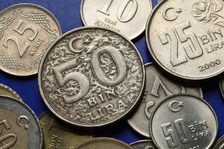 old turkish 50 thousand lira coin