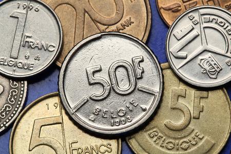 franc: Coins of Belgium. Belgian 50 franc coin.