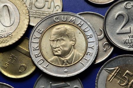 34106414 coins of turkey mustafa kemal ataturk depicted in the turkish lira coins