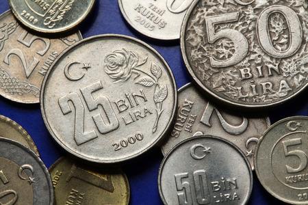 old turkish 25 thousand lira coin