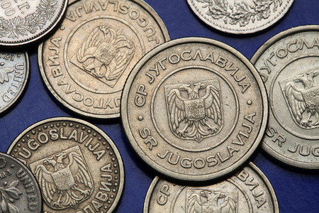 yugoslavia federal republic: Coins of Yugoslavia. Yugoslav national coats of arms depicted on the Yugoslav novi dinar coins (2002).