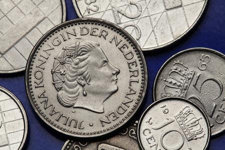Münzen Der Niederlande Einen Gulden Lizenzfreie Fotos Bilder Und