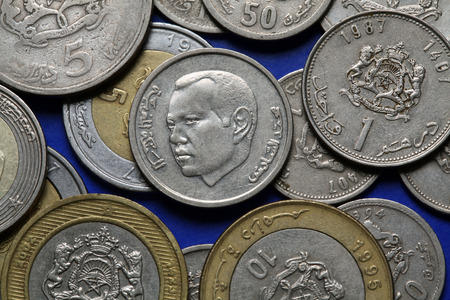 dirham: Coins of Morocco. King Mohammed VI of Morocco depicted in the Moroccan dirham coins.