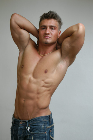 Sexy muscular man photo