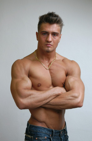 Young muscular athlete photo