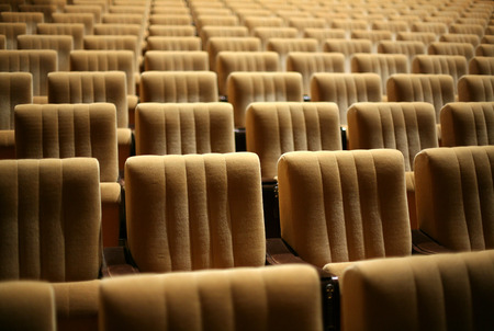 famous industries: Empty chairs at cinema or theatre