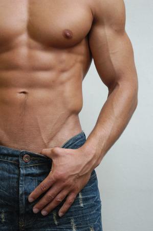 Muscular male model photo