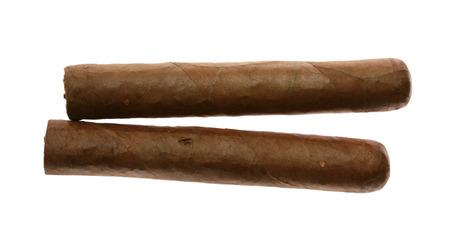 Havana cigars set isolated on white photo