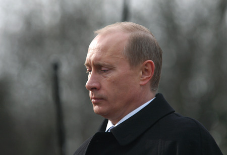 PRAGUE - MARCH 3: Russian Prime Minister Vladimir Putin during his official visit in Prague, Czech Republic, on March 3, 2010.