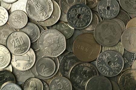 silver coins: Silver coins texture Stock Photo