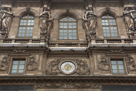 sully: Renaissance facades of the Louvre Museum in Paris, France.
