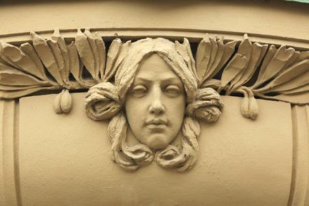 bohemia: Art Nouveau mascaron in Hradec Kralove, East Bohemia, Czech Republic. Editorial