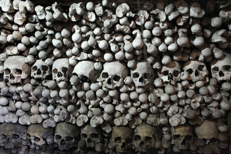 Human bones and skulls in the Sedlec Ossuary near Kutna Hora, Czech Republic. photo