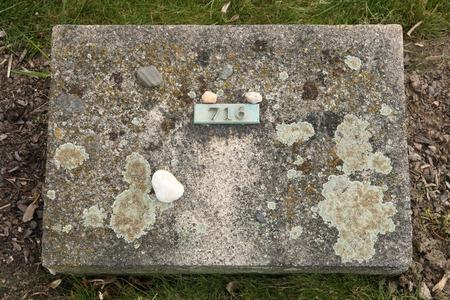 terezin: Pietre ebrei mettere sulla tomba una vittima sconosciuta del Ghetto Terezin al Cimitero Nazionale di Terezin, Repubblica Ceca. Archivio Fotografico