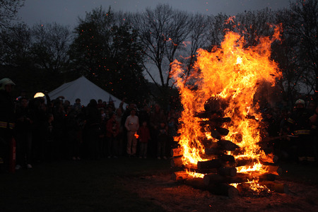 Burning of the Witches at Kampa Island at the Witches Night in Prague, Czech Republic. Reklamní fotografie